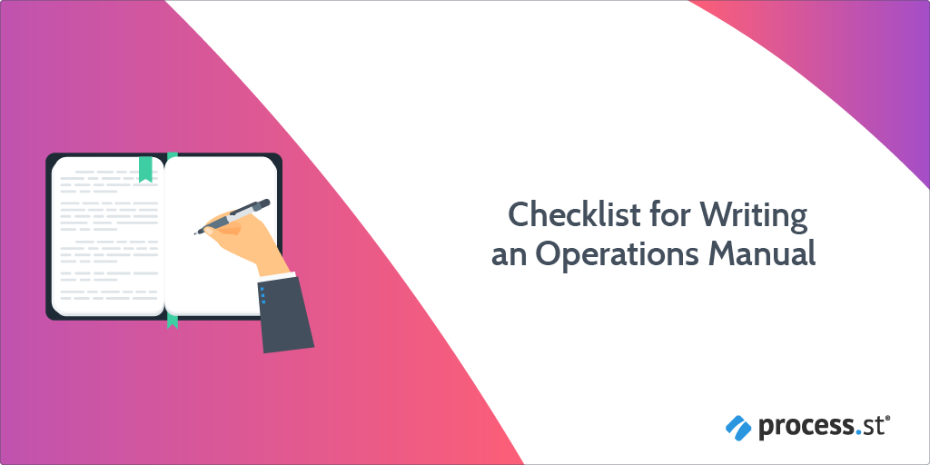 Introduction to the Checklist for Writing an Operations Manual: