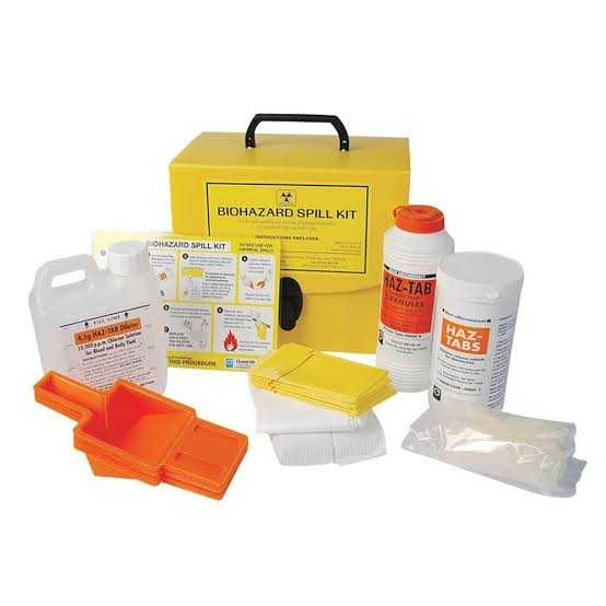 Ensure personnel can locate the biohazard spill kit
