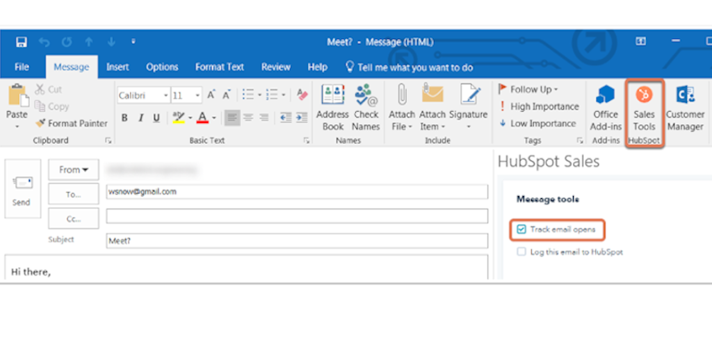 Select the checkbox 'track email opens' to begin to track your emails in Office 365.