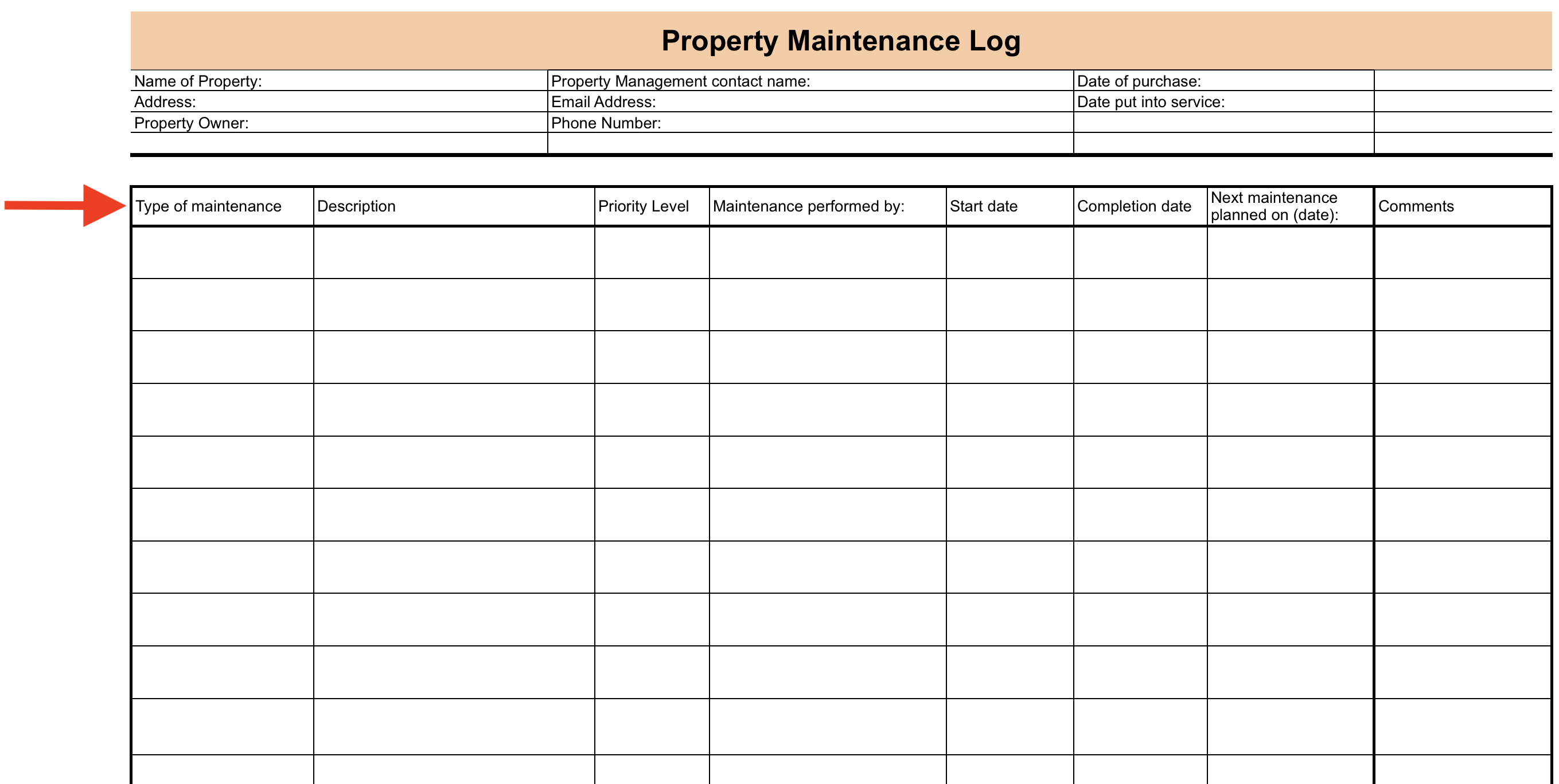 Maintenance Log Setup Checklist Process Street