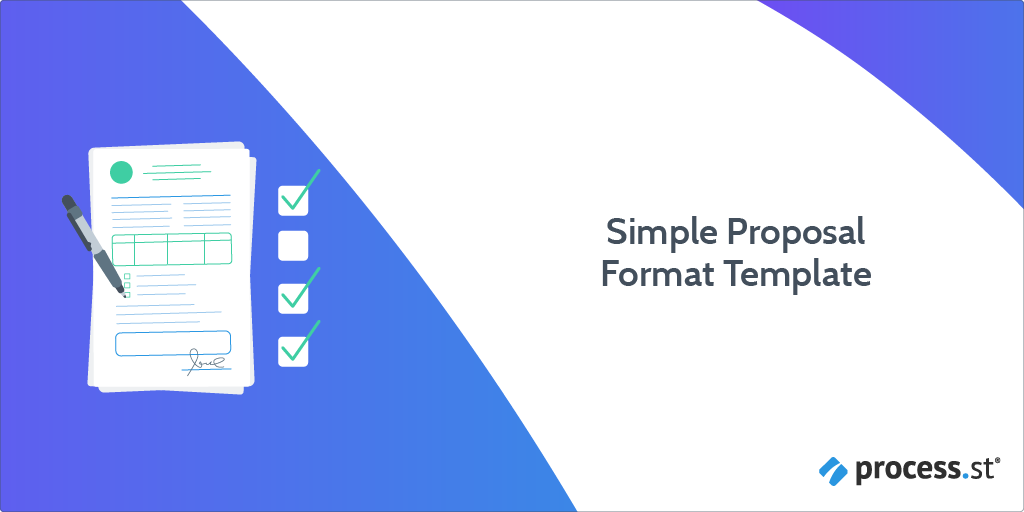 Introduction to a Simple Proposal Format Checklist: