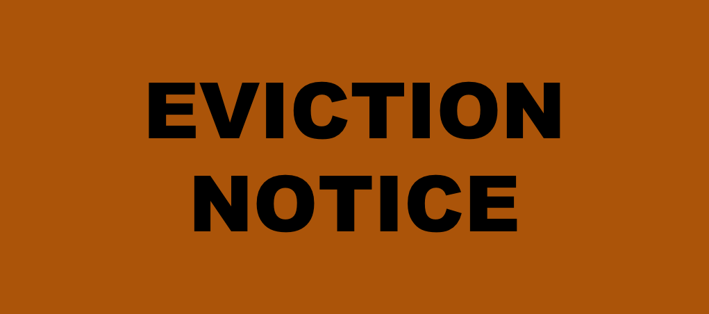 Eviction notice: