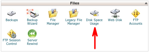 Check remaining space on server disk