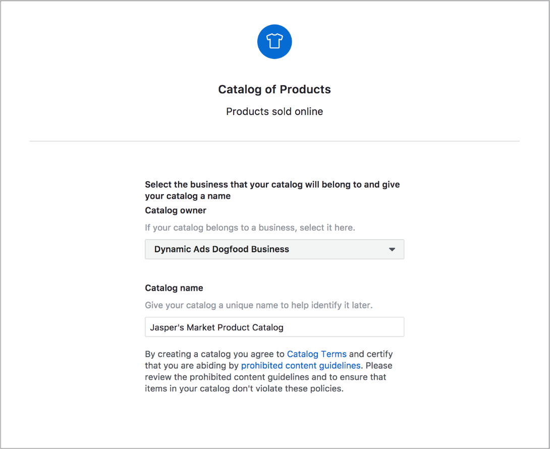 Create your product catalog(s)