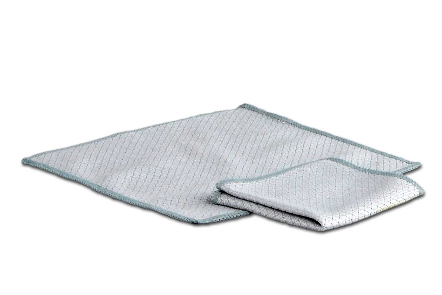 Anti-static cloths are recommended when cleaning electronic components.