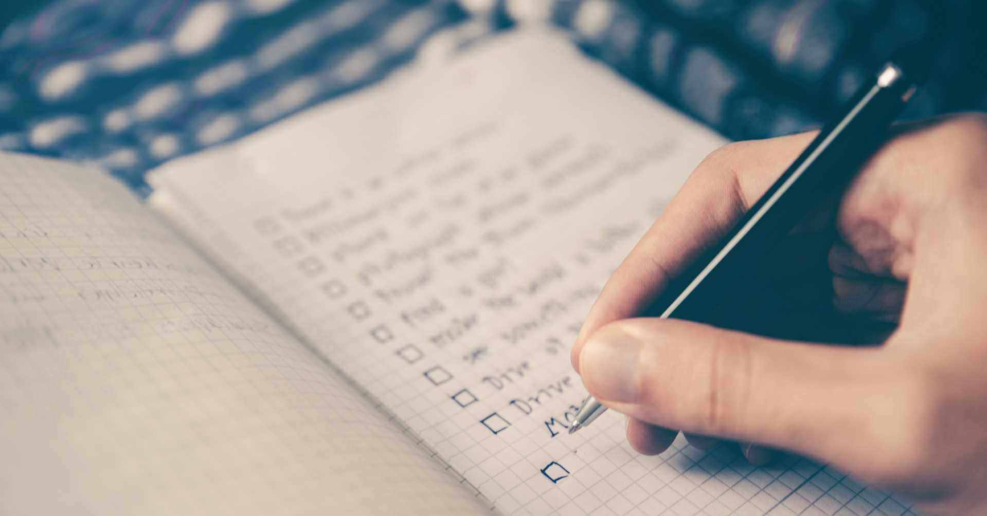 Determine action items to finalize preparation