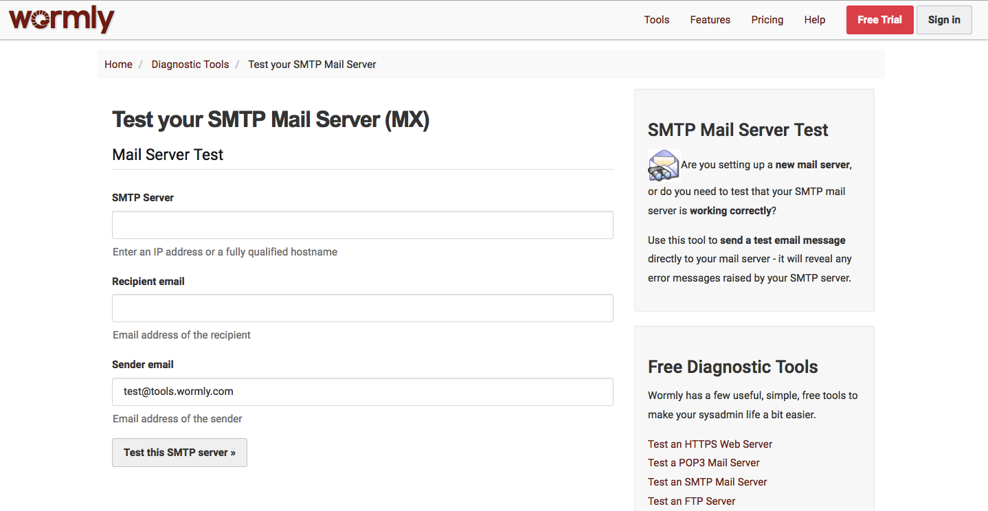 Check deliverability of emails sent from the web server