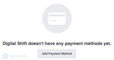 Input payment method