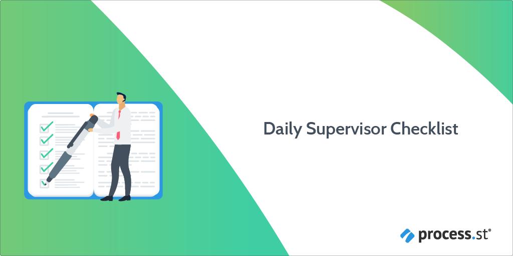 Daily Supervisor Checklist