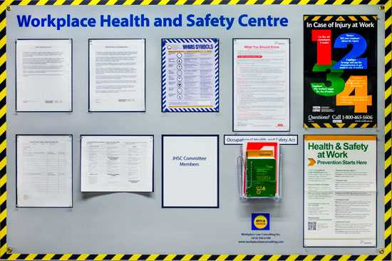 Ensure health and safety information is easily accessible