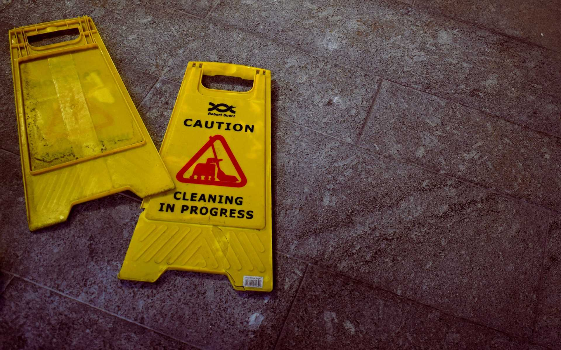 Check for warning signs near hazards