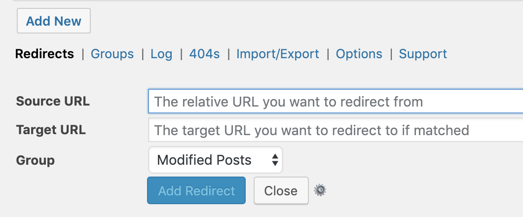 Redirect (301) OR update