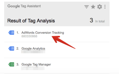Verify AdWords tracking code is added to your site