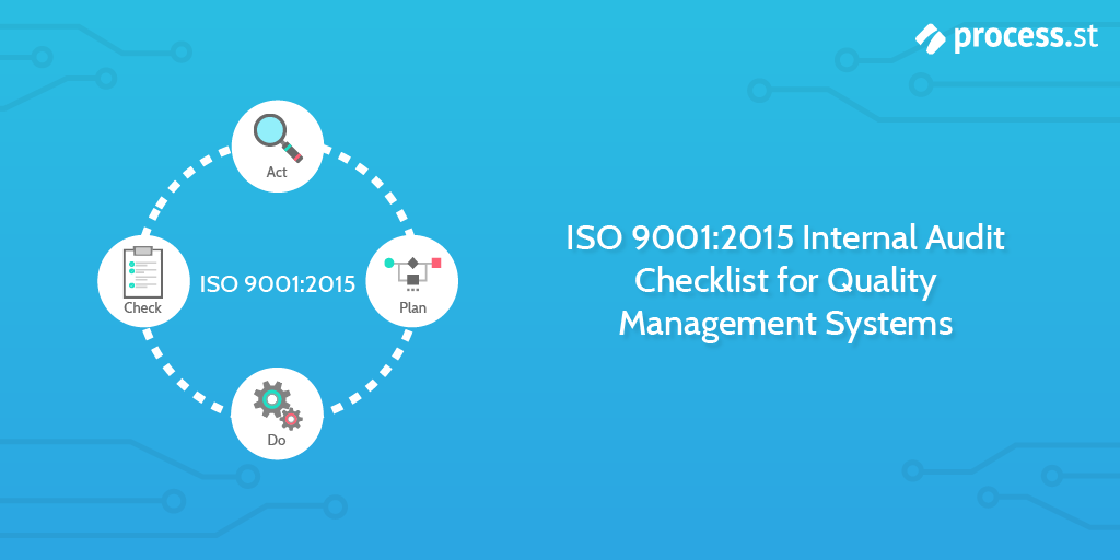 iso 9001 quality management system internal audit checklist