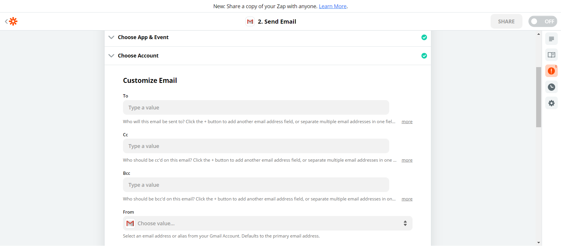 Set up email notifications