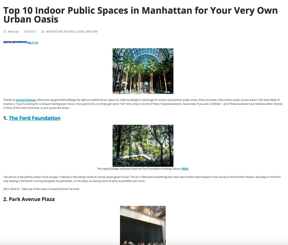 Pre-plot all Interior venues