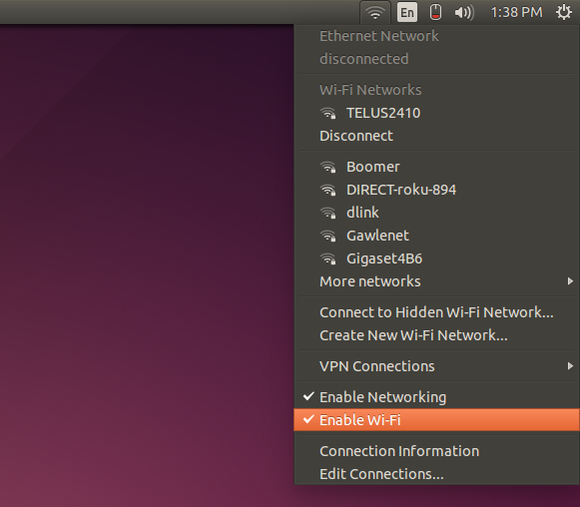 Configure Wi-Fi settings in Linux Ubuntu