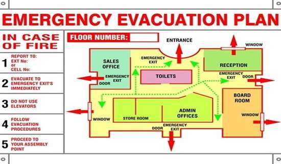 Check emergency evacuation plans