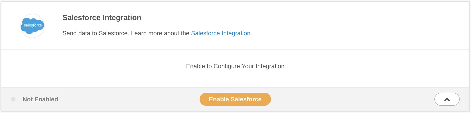 Click Enable Salesforce to enable the integration