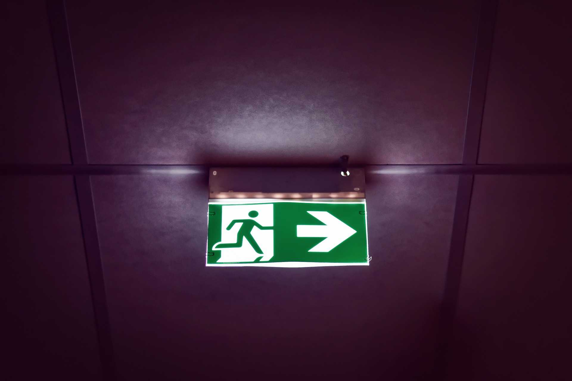Check all fire exit signs are illuminating properly
