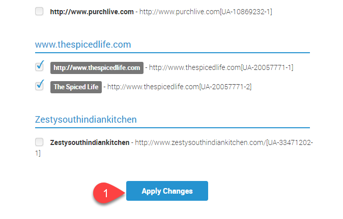 1) At the very bottom of the page click on Apply Changes