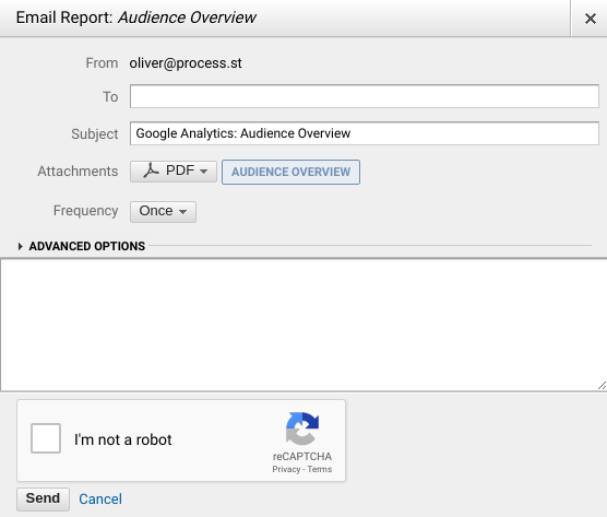 Make sure Google Analytics email reports are set up