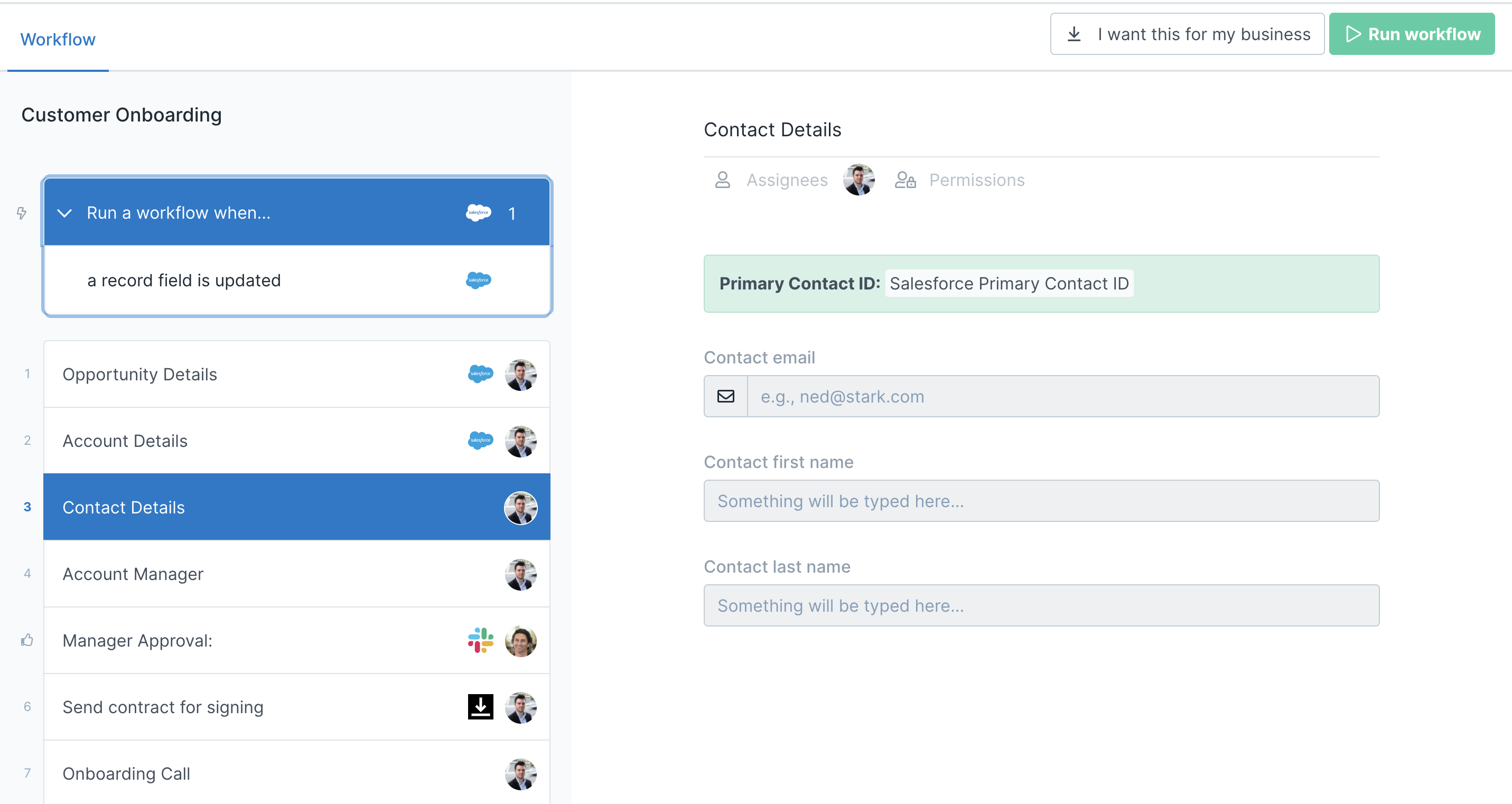 Customer onboarding workflow with Automations setup