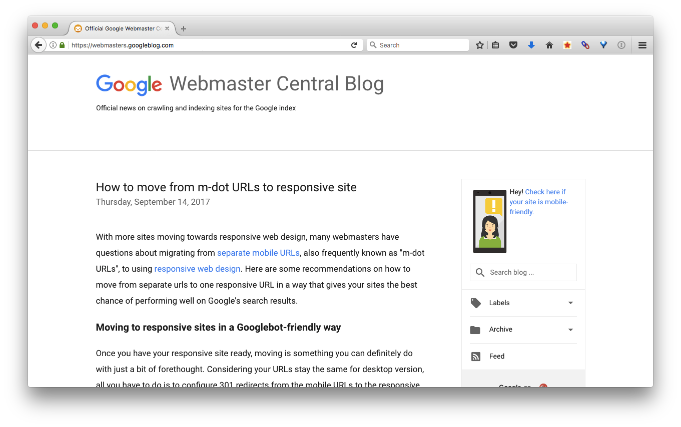 Check the Google Webmaster Central blog for updates