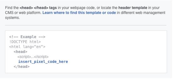 Install Facebook pixel