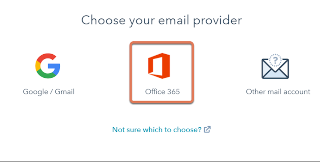 Select office 365 to connect with your Office 365 inbox.
