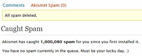 Process spam comments