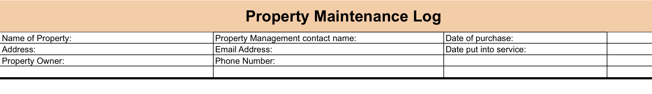Fill in property details